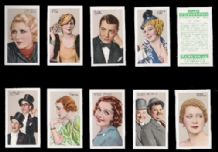 Stars of screen & stage 1935 Cigarette cards set 1935